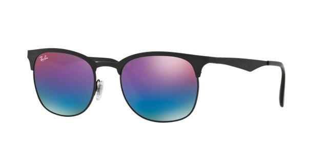 c92884ac3fce3 Ray-Ban RB3538 186 B1 Preto Lente Azul Degradê Tam 53 - Óculos de ...