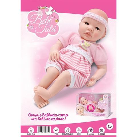 Imagem de Reborn Boneca Bebê Tatá Chora E Balbucia Como Um Bebê