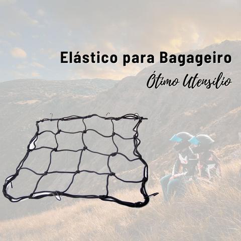 Imagem de Rede Elástico Tipo Aranha Para Bagageiro Moto Capacete 40x40