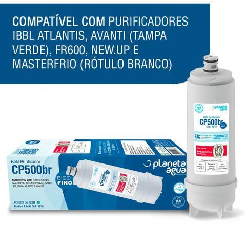 Imagem de Refil Carvão Ativado Filtro Bebedouro IBBL / MASTER FRIO CP500BR Bico Fino