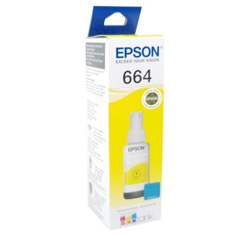 Imagem de Refil de Tinta Original 664 Amarela para Impressora L110/L210/L355/L365/L455/L555/L565 -T664420-AL