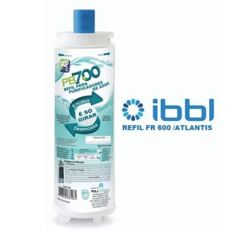 Imagem de Refil Filtro Purificador Água Masterfrio Rótulo Azul Bico 22,5mm Policarbon PB700