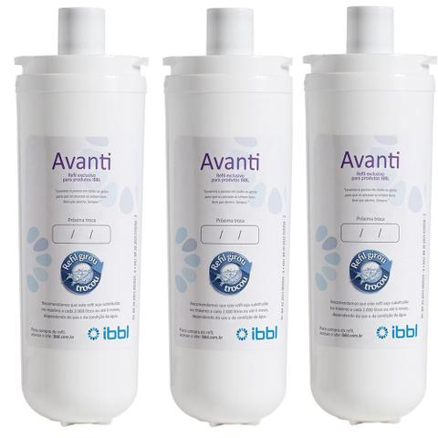 Imagem de Refil Filtro Purificador de Água IBBL Avanti MIO Orignal Kit 3 Peças
