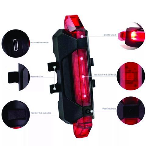 Imagem de Refletor com Carregador USB Traseiro 15 Lumens TSW