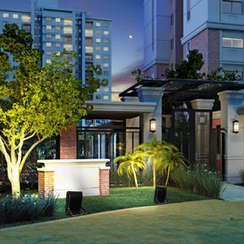 Imagem de Refletor Led Holofote 50W Smd IP66 6000K Branco Frio Bivolt Resistente Água Jardim Fachada Casa