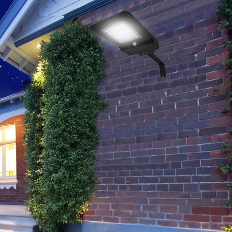 Imagem de Refletor Luminária Solar Integrada Pública LED 400 Lúmens Placa Completa Ecoforce 40W