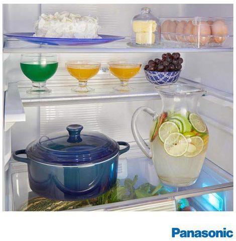 Imagem de Refrigerador Bottom Freezer Inverter Panasonic de 02 Portas Frost Free com 425 Litros e Painel Easy Touch Branco - BB53