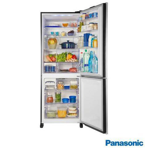 Imagem de Refrigerador Bottom Freezer Inverter Panasonic de 02 Portas Frost Free com 425 Litros e Painel Easy Touch Preto - BB53