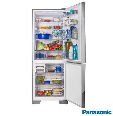 Imagem de Refrigerador Bottom Freezer Panasonic de 02 Portas Frost Free com 425 Litros e Painel Easy Touch Aço Escovado - BB53