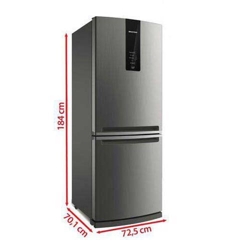 Imagem de Refrigerador de 02 Portas Brastemp Frost Free com 443 Litros com Freezer Invertido Cor Inox - BRE57AK