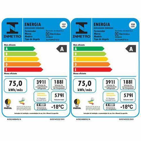 Imagem de Refrigerador Multidoor Electrolux de 03 Portas Frost Free com 579 Litros Painel Eletrônico Inox - DM84X