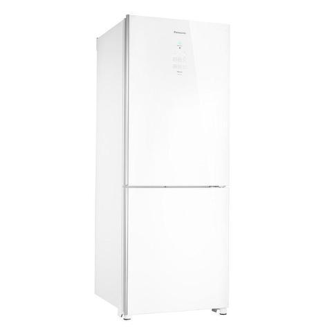 Imagem de Refrigerador Panasonic Frost Free Nr-Bb53gv3w Tecnologia Econavi White Glass 425 Litros