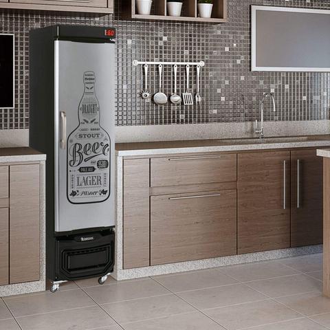 Imagem de Refrigerador Vertical Cervejeira 127V Frost Free Gelopar Preto