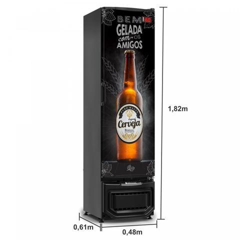 Imagem de Refrigerador Vertical Cervejeira 230 Litros 127v Frost Free Gelopar Preto