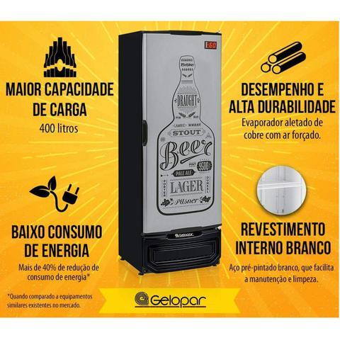 Imagem de Refrigerador Vertical Cervejeira 410L Porta Cega 127V Tipo Inox Gelopar Preto