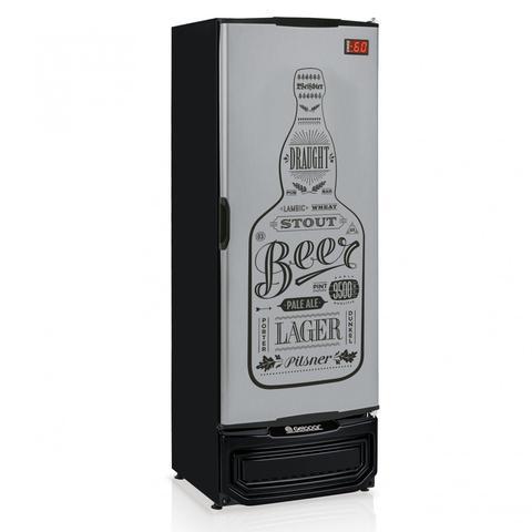 Imagem de Refrigerador Vertical Cervejeira 410L Porta Cega 220V Tipo Inox Gelopar Preto