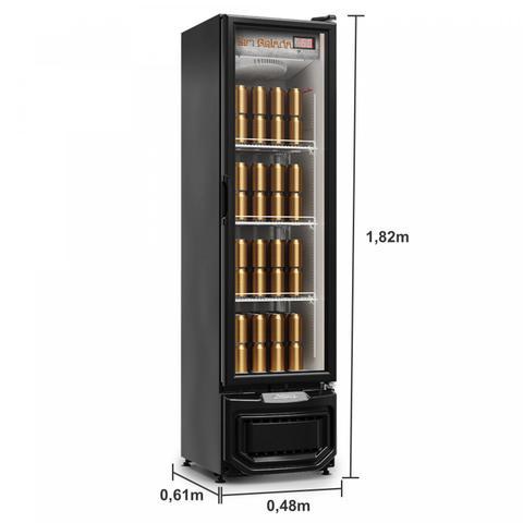 Imagem de Refrigerador Vertical Cervejeira Porta de Vidro 230 Litros 220v Frost Free GCB-23EV/PR Gelopar Preto