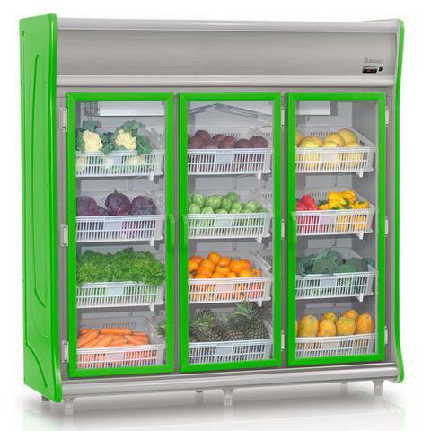 Imagem de Refrigerador Vertical Hortifrutícula GEHF-3P Gelopar 3 Portas Frost Free 1490 Litros