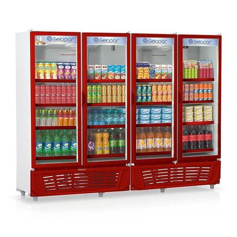 Geladeira/refrigerador 1950 Litros 4 Portas Vermelho - Gelopar - 110v - Grvc-1950