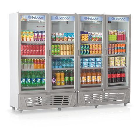 Geladeira/refrigerador 1950 Litros 4 Portas Cinza - Gelopar - 110v - Grvc-1950