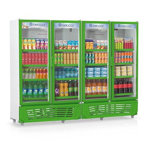 Geladeira/refrigerador 1950 Litros 4 Portas Verde - Gelopar - 110v - Grvc-1950
