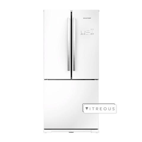 Imagem de RefrigeradorBrastemp Frost Free 540 Litros Side Inverse Vitreous Branco GRO80AB  127 Volts