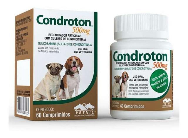 Imagem de Regenerador Articular Para Cães Condroton 500mg 60 Compr