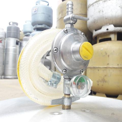 Imagem de Registro Regulador De Gás Fogão Visor Indicador aliança 506 Mangueira fogão pvc