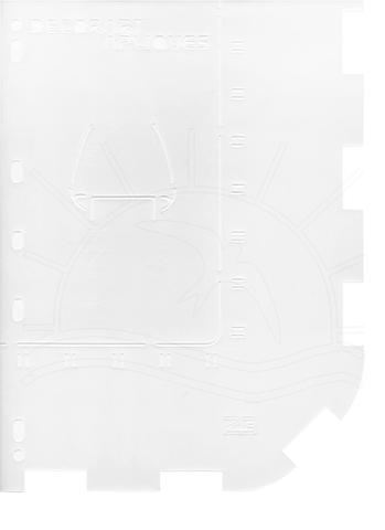 Imagem de Régua para Patch Richelieu Márcia Caires Modelo 23 - Barrado de Babado Canto Reto