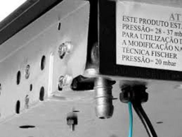 Imagem de  Regulador Registro Click com visor indicador Fogão Forno Mangueira 1 Metro Top
