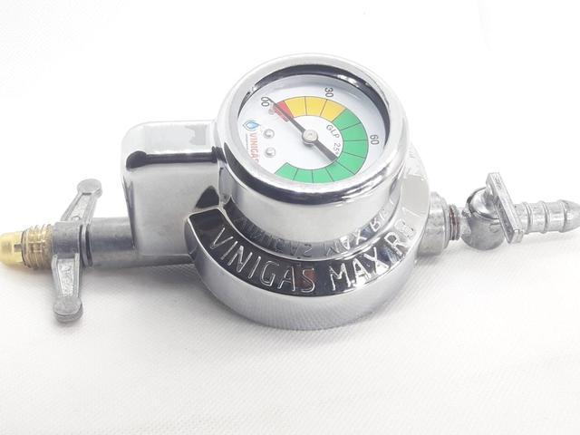 Imagem de Regulador visor grande medidor Mangueira 1metro Gás Fogão Embutir Cooktop Brastemp - Electrolux