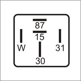 Imagem de Relé de Controle da Rotação do Motor Mercedes-Benz 3885457024 e 3845457124 - DNI 0826