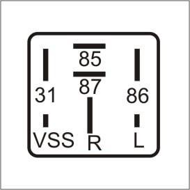 0676cce319e Relé Temporizador VW 2R2927103 - 24V - DNI 8536 - Acessórios para ...