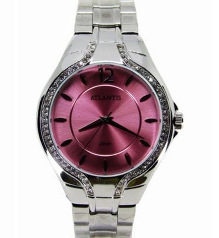 Imagem de Relogio atlantis feminino g3413 fundo rosa