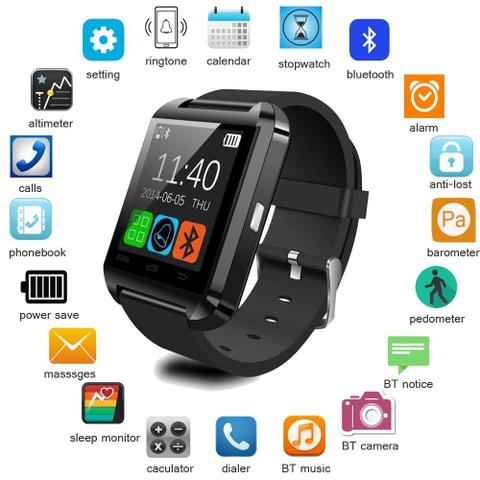 Imagem de Relógio Bluetooth Smart Watch U8 Android iPhone 5 6 J7 A5