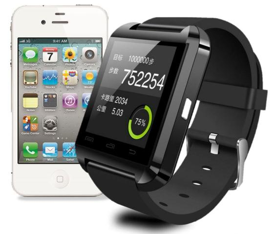3901d4fe748 Relogio Bluetooth Smartwatch u8 Compativel Iphone e Android - Sport ...