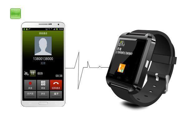 Imagem de Relogio Bluetooth u8+ Plus Smartwatch Touch Screen Sem fio Inteligente Ligação Viva Voz Preto