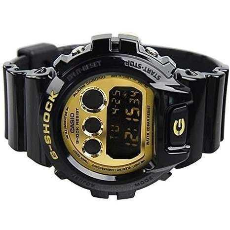 a5608454de4 Imagem de Relógio Casio Masculino G-shock Digital Preto E Dourado  Dw6900cb1ds
