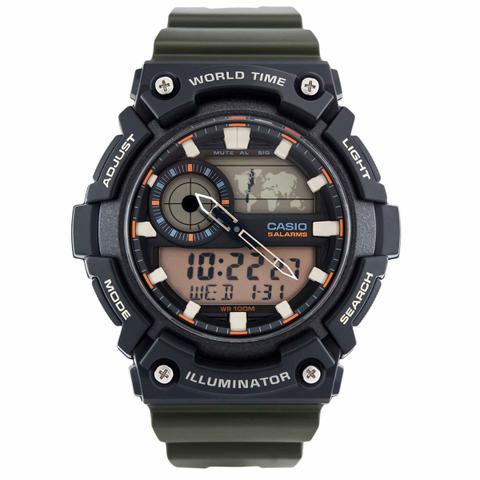 fac51fd4e4c Relógio Casio Standard Anadigi Masculino AEQ-200W-3AVDF-BR - Relógio ...