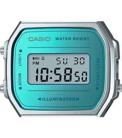 3be404121a7 Relógio Casio Vintage Espelhado Azul Unissex A168WEM-2DF - Relógio ...