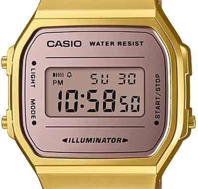 bf9d09ef16d Imagem de Relógio Casio Vintage Espelhado Bicolor Rose Dourado Unissex  A168WECM-5DF