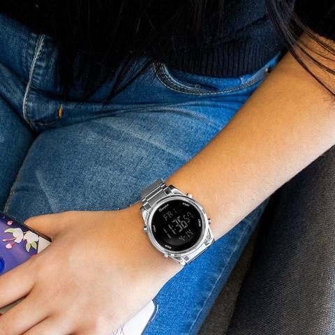 Imagem de Relógio Champion Feminino Digital Prata CH40071T + Colar e Brincos