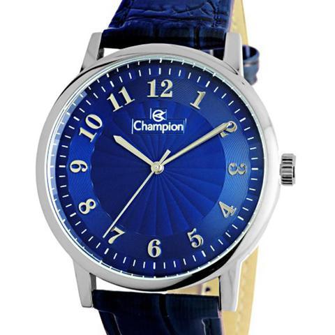 Imagem de Relógio Champion Feminino Pulseira Couro Azul - CN20560F