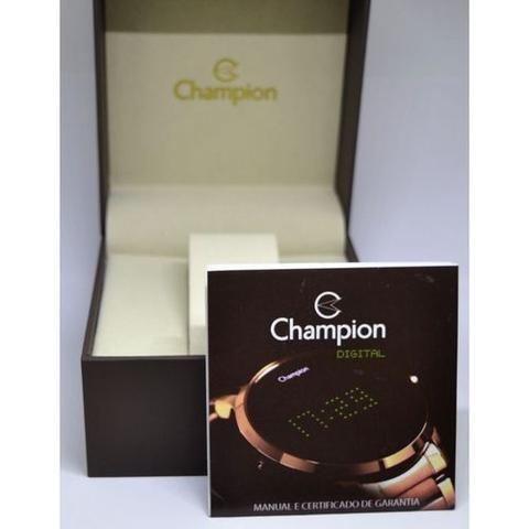 Imagem de Relogio champion rose quadrado digital led rosa ch40080h