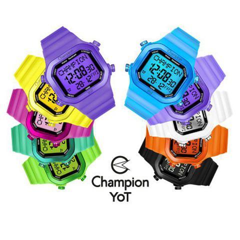 Imagem de Relógio Champion Yot Unissex Troca Pulseira Amarelo Transparente  Cp40180x-81758