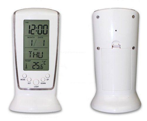 Imagem de Relógio de Mesa Digital com Despertador, Temperatura, Data e Luz DS-510