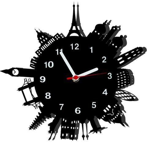 Imagem de Relógio de Parede Decorativo - Modelo Mundo