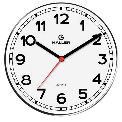 Imagem de Relógio de Parede Disco New York 5395/01 22cm Branco