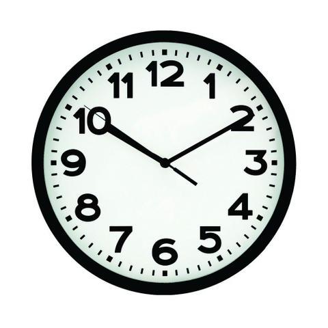 Imagem de Relógio de parede preto 20cm