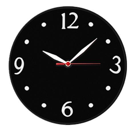 Imagem de Relógio de Parede Silencioso Preto Delta